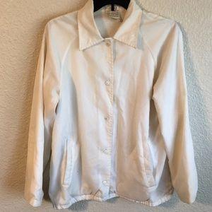 White Men's Vintage Bomber Jacket